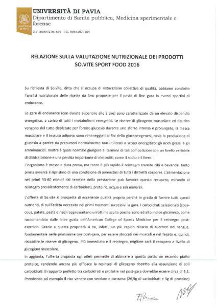 Relazione Sport Unipv Firmata